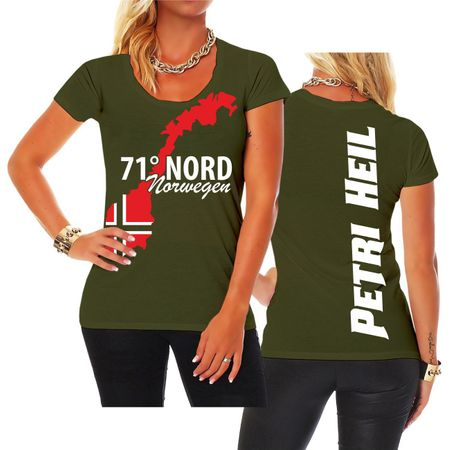 Frauen Shirt 71 Grad Nord NORWEGEN