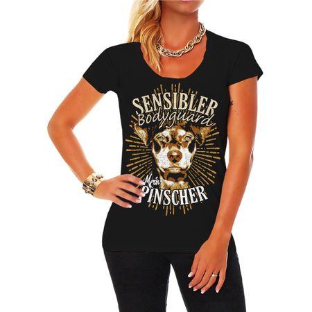Frauen Shirt Deutscher Pinscher - Sensibler Bodyguard