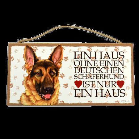 Holzschild Deutscher Schäferhund (Ein Haus ohne...)