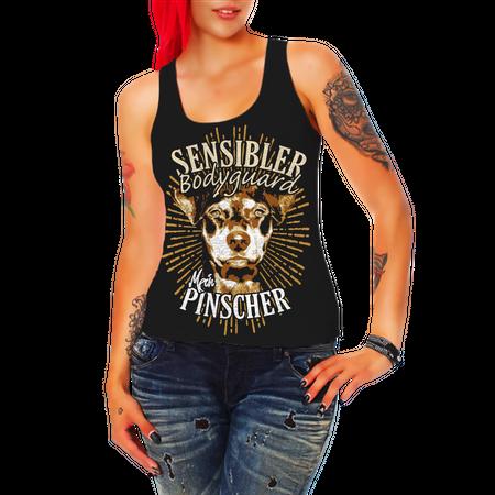 Frauen Trägershirt Deutscher Pinscher - Sensibler Bodyguard