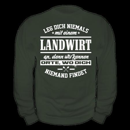 Männer Sweatshirt Leg dich niemals mit einem LANDWIRT an