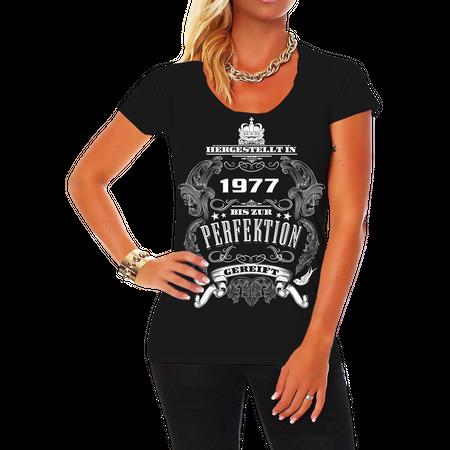 Frauen Shirt Bis zur Perfektion gereift 1977