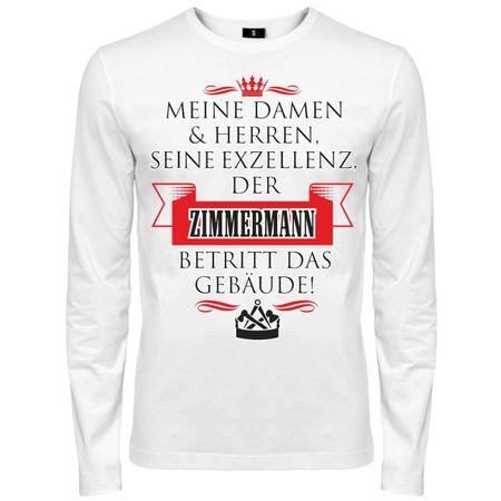 Männer Langarm Seine Exzellenz DER ZIMMERMANN