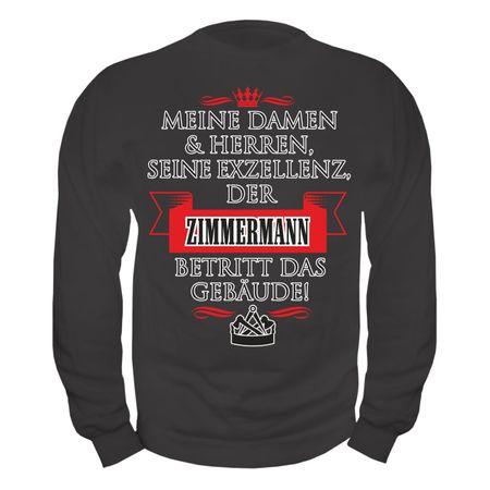 Männer Sweatshirt Seine Exzellenz DER ZIMMERMANN