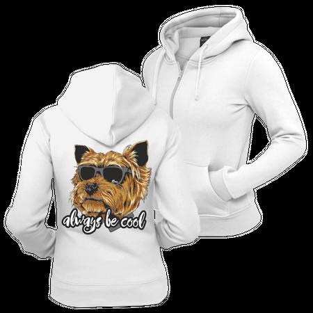 Frauen Kapujacke Yorkshire Terrier always be cool