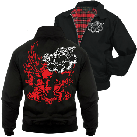 Männer Harrington Jacke Spass kostet Death Head