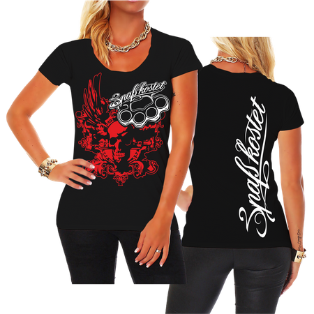 Frauen Shirt Spass kostet Death Head