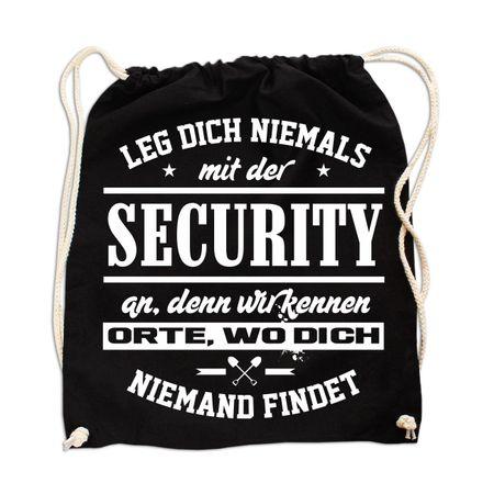 Rucksack Leg dich niemals mit der SECURITY an