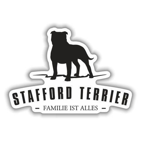 Aufkleber American Staffordshire Terrier Silhouette