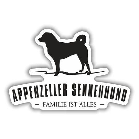 Aufkleber Appenzeller Sennenhund Silhouette