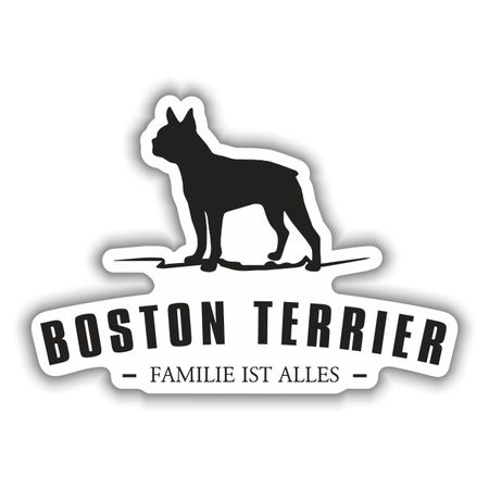 Aufkleber Boston Terrier Silhouette