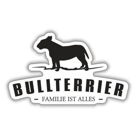Aufkleber Bullterrier Silhouette