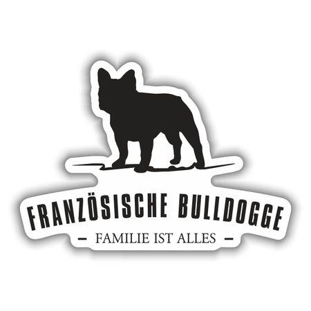 Aufkleber Französische Bulldogge Silhouette