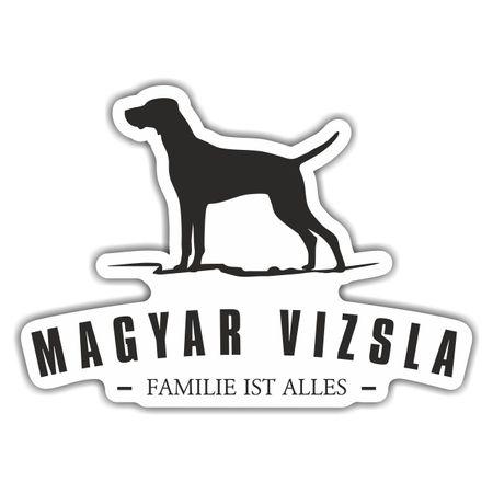 Aufkleber Magyar Vizsla Silhouette
