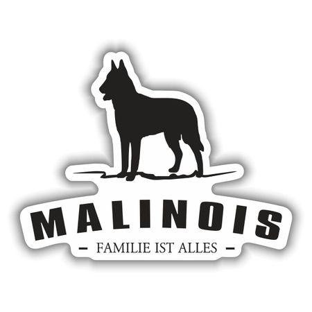 Aufkleber Malinois Silhouette