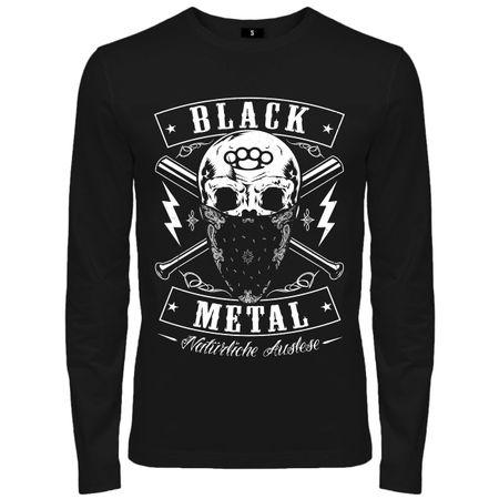 Männer Longsleeve BLACK METAL