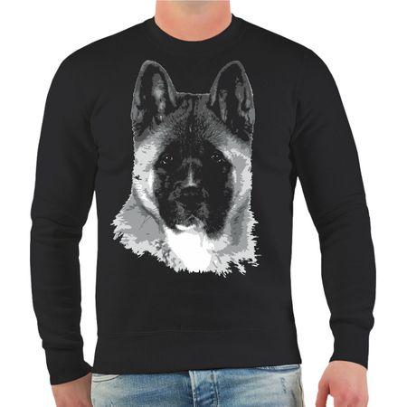 Männer Sweatshirt American Akita
