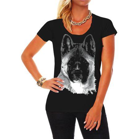 Frauen Shirt American Akita BOSS
