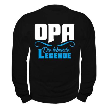 Männer Sweatshirt OPA die lebende Legende