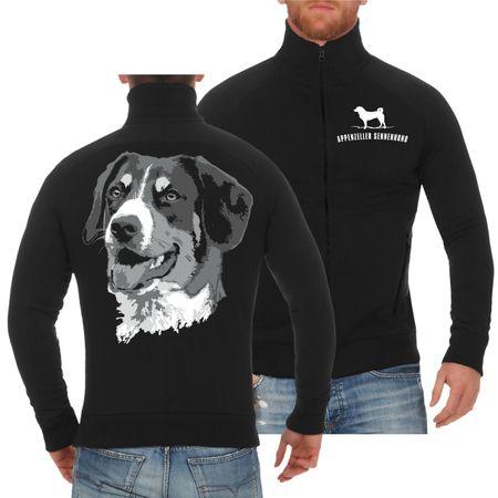 Männer Sweatjacke Appenzeller Sennenhund
