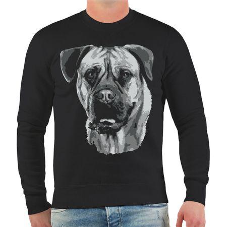 Männer Sweatshirt Bordeaux Dogge