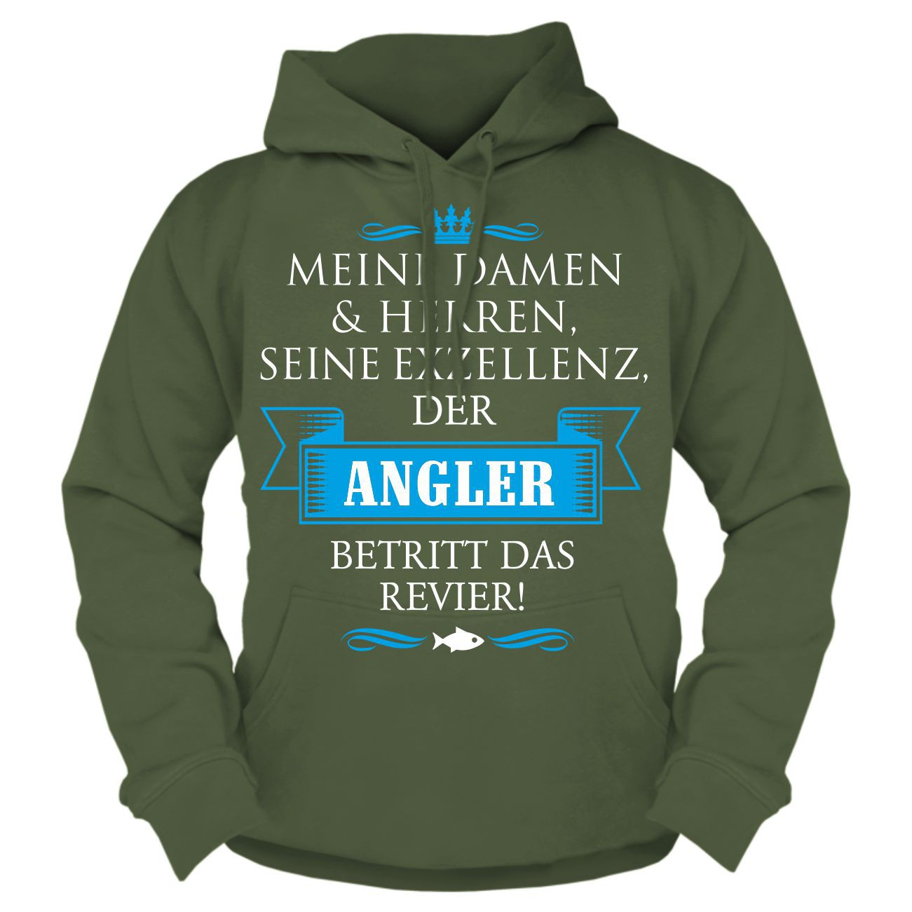 sprüche hoodies Kapuzenpullover Seine Exzellenz DER ANGLER Hoodie lustige Sprüche  sprüche hoodies
