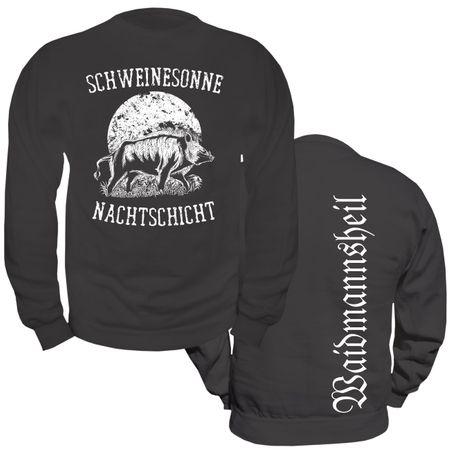 Männer Sweatshirt Schweinesonne
