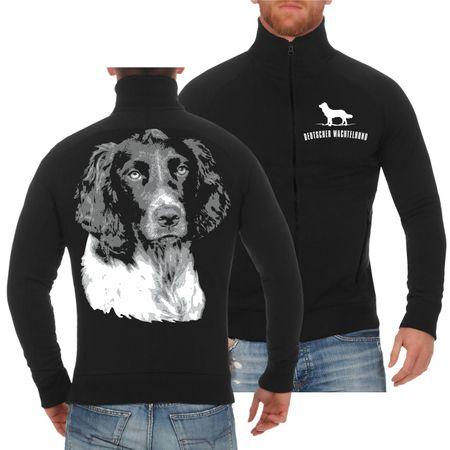 Männer Sweatjacke Deutscher Wachtelhund