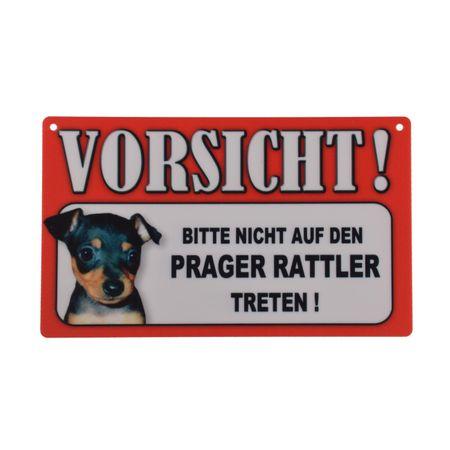 Warnschild Prager Rattler