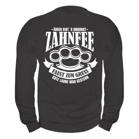 Männer Sweatshirt Zahnfee - Faust zum Gruss