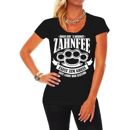 Frauen Shirt Zahnfee - Faust zum Gruss