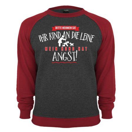 Männer Sweatshirt Mein Hund hat Angst - Kind an Leine