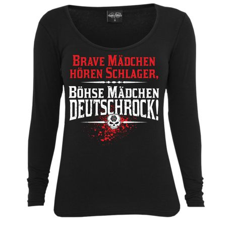Frauen Longsleeve Brave Mädchen hören Schlager böse Mädchen Deutschrock