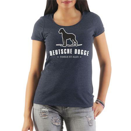 Frauen Shirt Deutsche Dogge - Familie ist alles