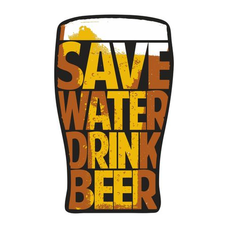 Aufkleber Save Water drink Beer