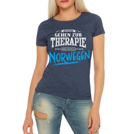 Frauen Shirt Therapie? Ich fahr nach NORWEGEN