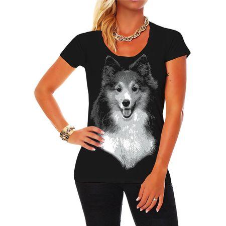 Frauen Shirt Shetland Sheepdog Sheltie BOSS