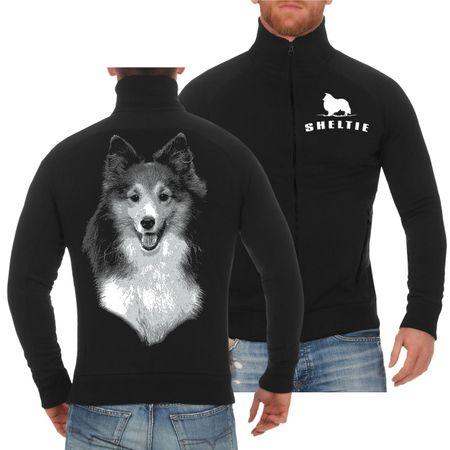 Männer Sweatjacke Shetland Sheepdog Sheltie BOSS