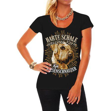 Frauen Shirt Riesenschnauzer - Harte Schale weicher Kern