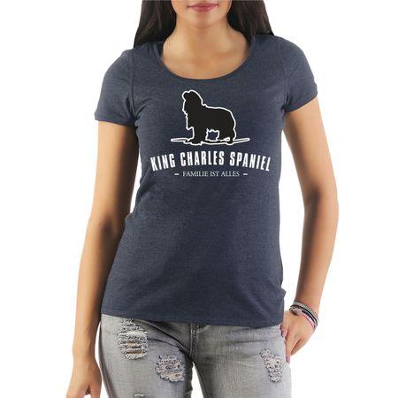 Frauen Shirt King Charles Spaniel - Familie ist alles