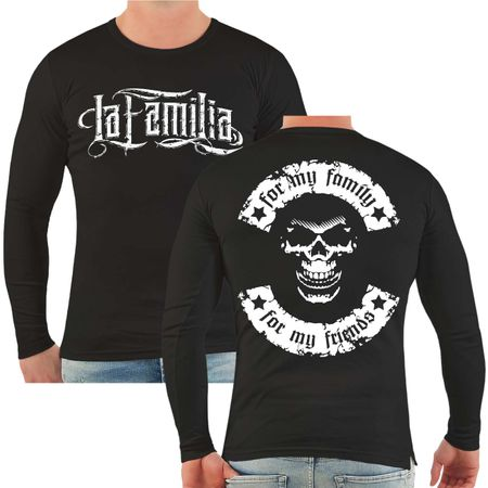 Männer Longsleeve La Familia for my family for my friends