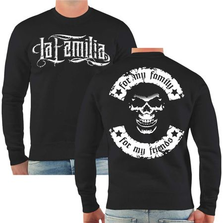 Männer Sweatshirt La Familia for my family for my friends