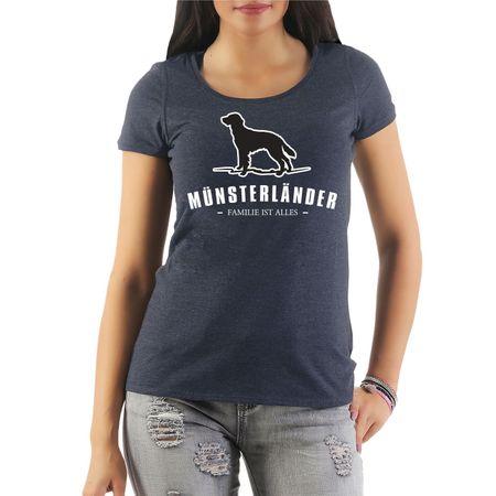 Frauen Shirt Münsterländer - Familie ist alles