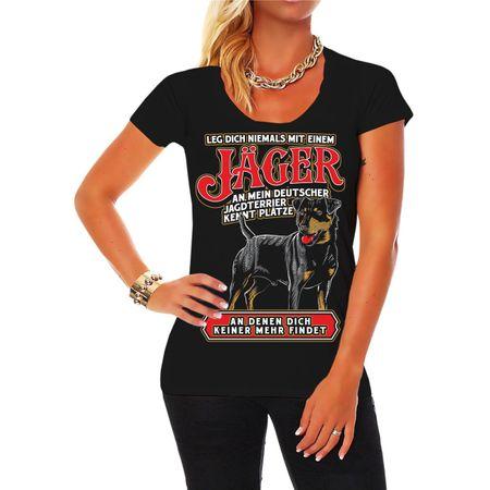 Frauen Shirt Jäger Deutscher Jagdterrier