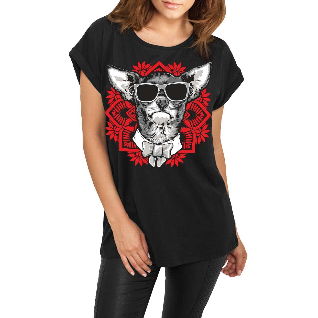 XS 2XL Frauen Damen Langarm Shirt My Chihuahua Dogs Rasse Hunde Welpe Gr