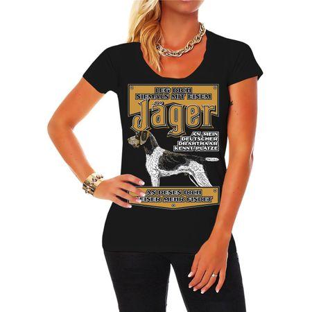 Frauen Shirt Jäger Deutsch Drahthaar