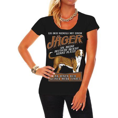 Frauen Shirt Jäger Deutsche Bracke