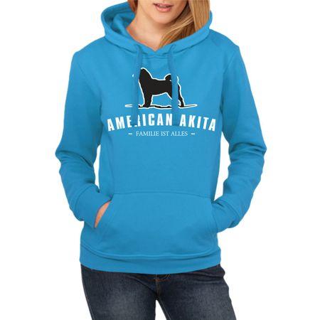 Frauen Kapu American Akita - Familie ist alles
