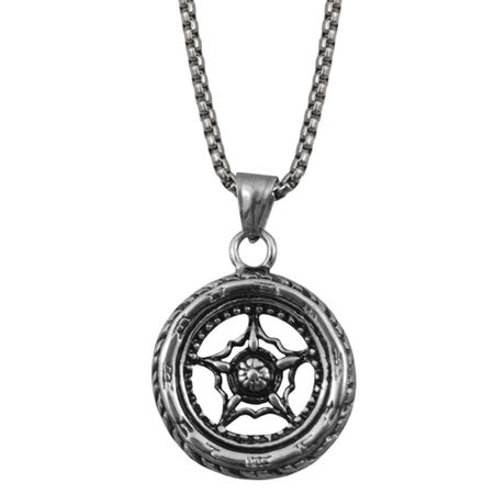 Halskette mit Anhänger Kompass Horoskop Schicksal EDELSTAHL