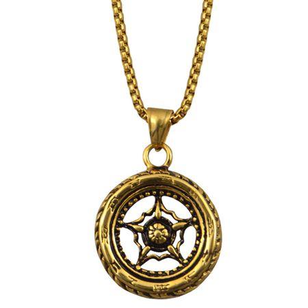 Kompass Horoskop Schicksal Kette mit Anhänger in GOLD